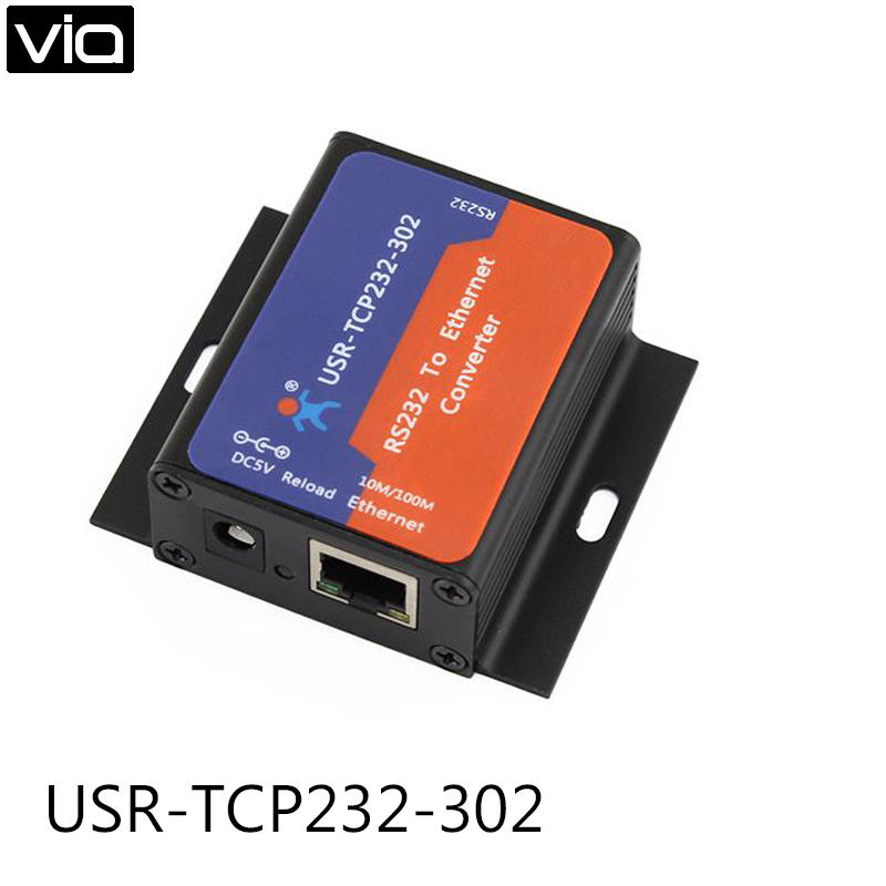 USR-TCP232-302 Free Shipping Tiny Size Serial RS232 to Ethernet TCP IP Server Module Ethernet Converter Support DHCP/DNSUSR-TCP232-302 Free Shipping Tiny Size Serial RS232 to Ethernet TCP IP Server Module Ethernet Converter Support DHCP/DNS