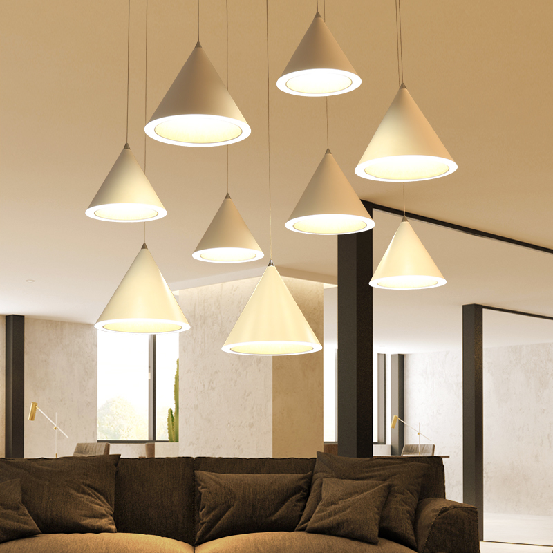 Pendant Lights Modern Led For Living Dining Room Decoration Dimming Hanging Lamp Ac85~265v Minimalist Lamp Free Shipping free shipping remote control colorful modern minimalist led pyramid light of decoration led night lamp for christmas gifts