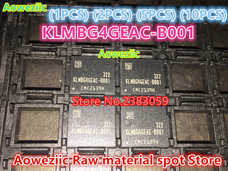 Aoweziic (1PCS) (2PCS) (5PCS) (10PCS) 100% New original KLMBG4GEAC-B001 32G BGA Memory chip KLMBG4GEAC B001 aoweziic 1pcs 2pcs 5pcs 10pcs 100% new original klmag2geac b001 bga memory chip klmag2geac b001 emmc font 16gb