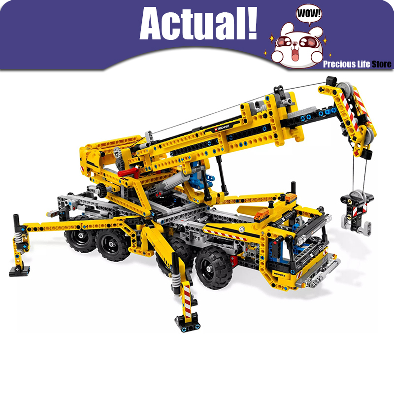 LEPIN 20040 Mobile Crane Technic Model Building Blocks Bricks Toys DIY For Kids Model 1392PCS Compatible with legoINGly 8053