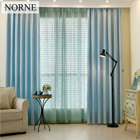 NORNE Modern Tulle Window Curtains For Living Room The Bedroom The Kitchen Colorful Solid Fabric With