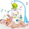 Baby Mobile Rattle Infant Crib Bed Bell Toys Sleep Projecting Musical Box 20 Songs Electronic Happy Family 0-1 Years Old