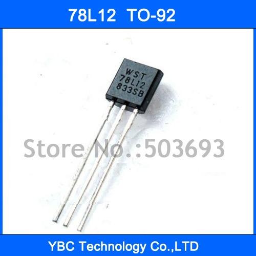 100pcs 78L12 SOT-89 SMD Voltage Regulator IC 0.1A 12V