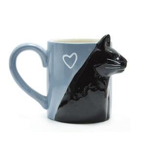 Image 3 - 2pcs 럭셔리 키스 고양이 컵 커플 세라믹 머그잔 결혼 커플 기념일 아침 머그잔 우유 커피 차 아침 발렌타인 데이