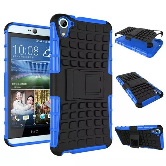 Для HTC Desire 826 Гибридный Мягкие Резиновые Силиконовые + Жесткий PC Shell Телефон Case Для HTC Desire 826 Ударопрочный Стент крышка