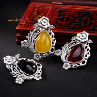 restoring ancient ways is the plum blossom rose chalcedony agate pomegranate red female long sweater chain pendant