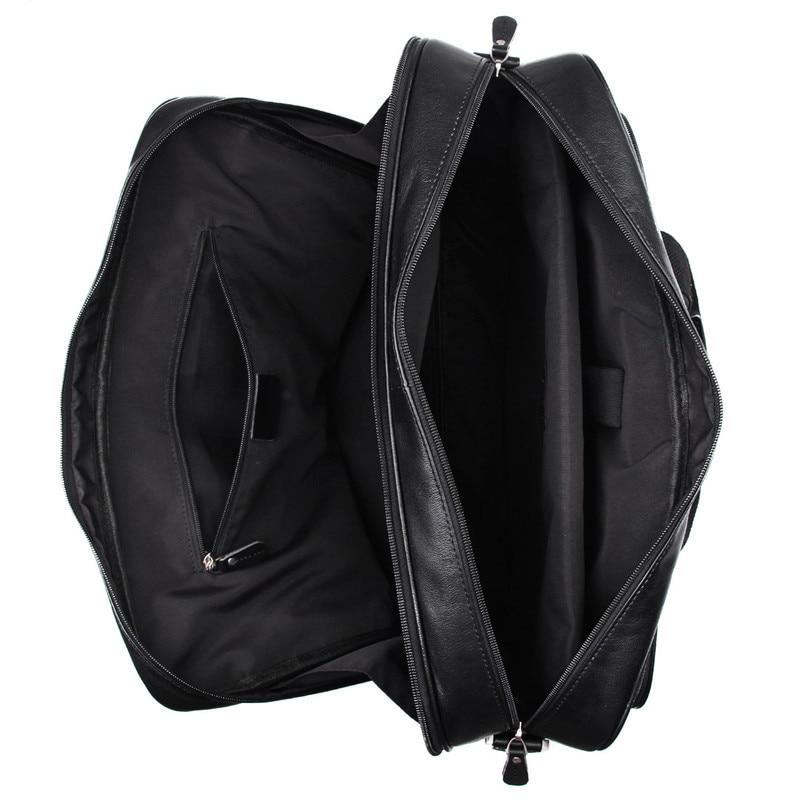 Nesitu 6 Kaffee ''14'' black Bags 15 Messenger Aktentasche Business reisetasche Große Laptop Echtes Leder M7320 Portfolio Schwarz Männer Coffee rPHrwfqE