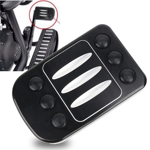 Motorcycle Cnc Edge Cut Aluminum Brake Pedal Pad Cover For Harley Davidson 1980 2017 Dyna Switchback Fld Electra Glide Clic