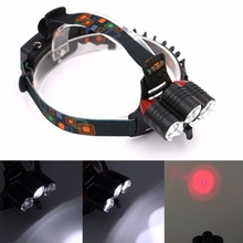 4000 Lumen 1*T6+2*R2 LED Headlamp Waterproof 4 Modes Head Light Lamp LED Headlight+AC/Car Charger for Camping Hunting