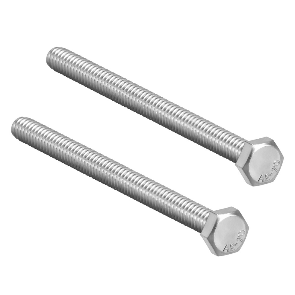 uxcell M8 Thread 40mm 304 Stainless Steel Hex Screws Bolts 10pcs