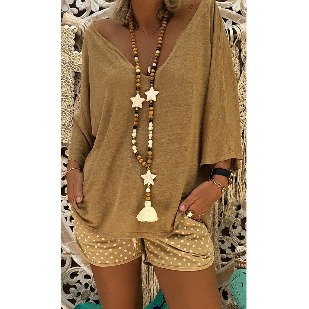 womens shirt V Neck Caftan Boho Beach Cover Plus Size Vintage Hippie Baggy woman tshirt top shirt woman large size chemise femme