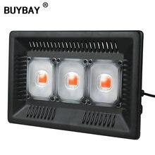 BUYBAY полный спектр светодиодный Grow светильник Водонепроницаемый IP67 100W 200W 300W COB рост потолочные светильник для завода Крытый гидропонное парниковых