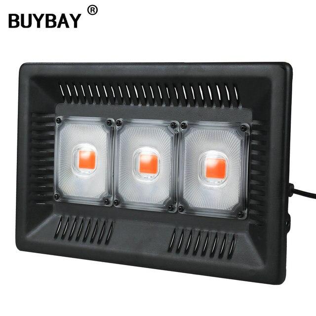 BUYBAY شاشة ليد بطيف كامل ينمو ضوء مقاوم للماء IP67 100 واط 200 واط 300 واط COB نمو كشاف ضوء للنباتات داخلي مشتل زراعة مائيّة