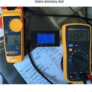 Image 4 - 20A AC Digital LCD Panel Power Meter Monitor Power Energy Ammeter Voltmeter Blue Backlight Dual Measuring 80 260V