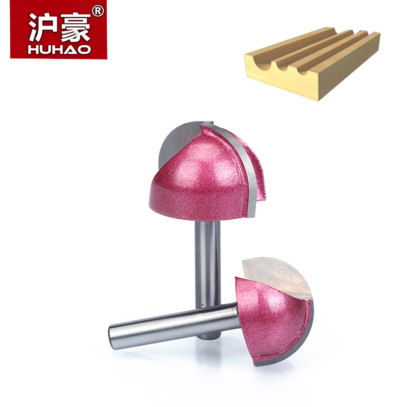 HUHAO 1pcs 6mm Shank cove box bit Round Shank Router Bits for wood Industrial Grade Woodworking endmill miiling cutter in Milling Cutter from Tools