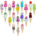 Hot Sell Gift Set = 5 Pcs Mix Sorts 2016 Newest Beautiful Handmade Party Clothes Fashion Dress For Barbie Doll Kids Girl Toys
