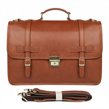 Genuine Leather Crazy Horse 14 Inch Cowhide Briefcases Handbag Laptop iPad Bag Male Men Portfolio Tote 7397- anaph vintage crazy horse men s leather durable briefcases 15 laptop bag brown cowhide business tote bags 30 year warranty