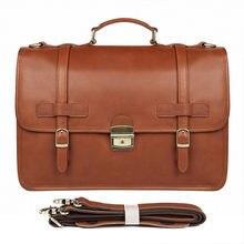3a633472c842 Пояса из натуральной кожи Crazy Horse 14 дюймов коровьей портфель ноутбук  iPad сумка мужской для мужчин