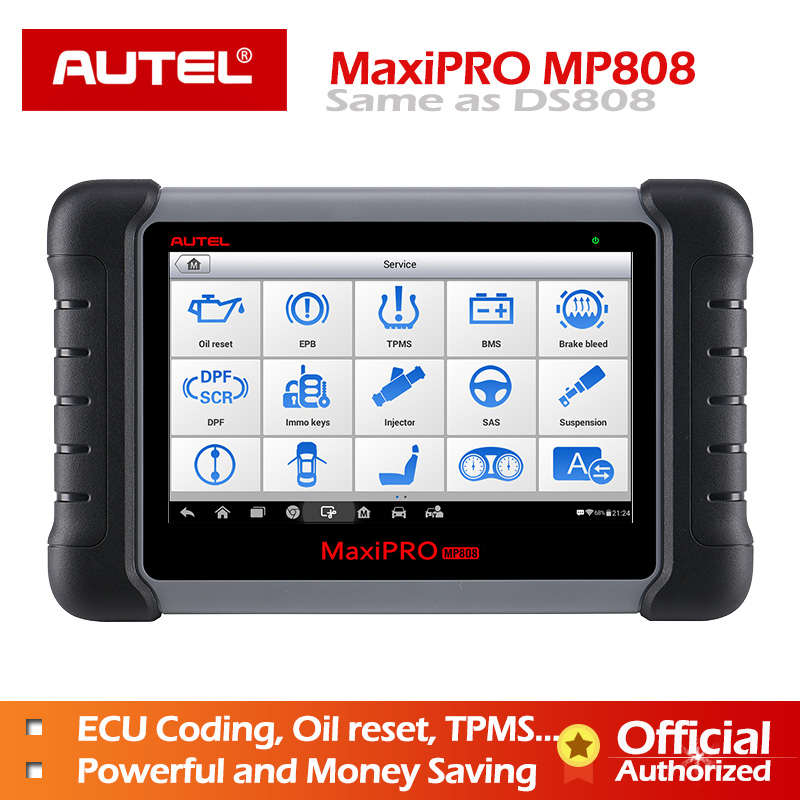 Autel MaxiPRO MP808 Car Diagnostic Scanner All System Auto Diagnostics Scan Tool Automotive Diagnosis Autoscanner PK DS808 MS906-in Engine Analyzer from Automobiles & Motorcycles