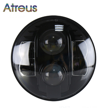 Atreus 80W Headlight For Jeep Wrangler JK 07-2014 CJ TJ accessories 1PC 7Inch Car LED head fog lamp Hi/Lo for Harley Land Rover