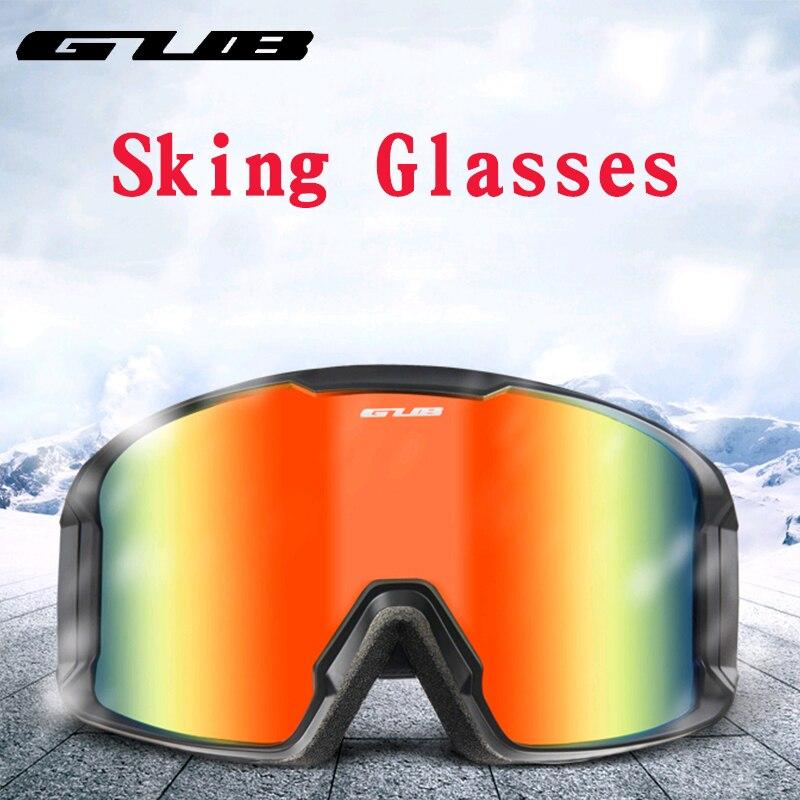 GUB ski goggles double layers UV400 anti-fog big ski mask glasses skiing men women snow snowboard goggles