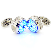 Mens shirts cufflinks Christmas gift for the cufflinks business graduation ceremony LED lighting tuxedo  pure copper plated