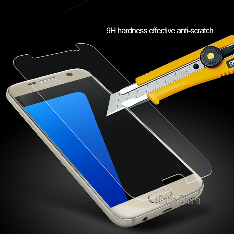 Screen Protector Tempered Glass For Samsung Galaxy J5 J7 2015 <font><b>J1</b></font> mini J2 J3 A3 A5 A7 <font><b>2016</b></font> S6 S5 S4 S3 Xcover 3 Core 2 G530 Film image