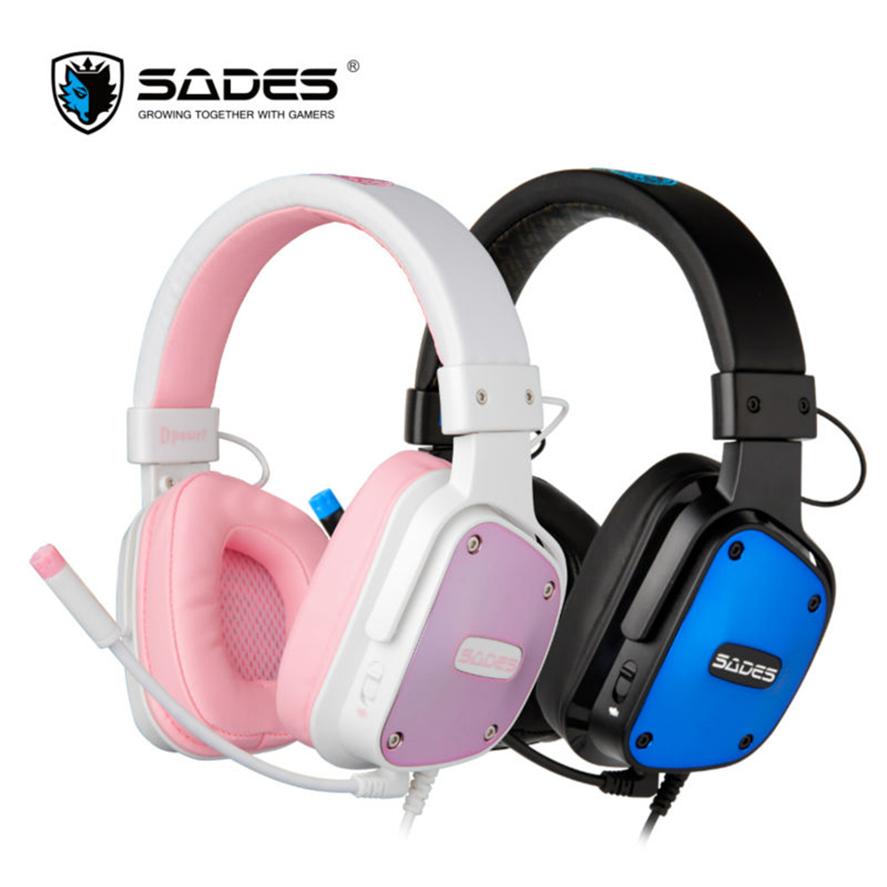 SADES Dpower 3.5mm Gaming Headphones Lightweight Design Lovers Headphone Multi-platform Headset for PC/Xbox One/PS4