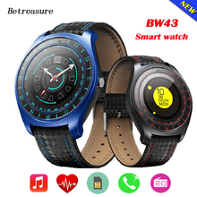 Betreasure BW43 Bluetooth SmartWatch Coronary heart Price Monitor Health Tracker Waterproof Males Sensible Watch With SIM/TF Card for Telephone