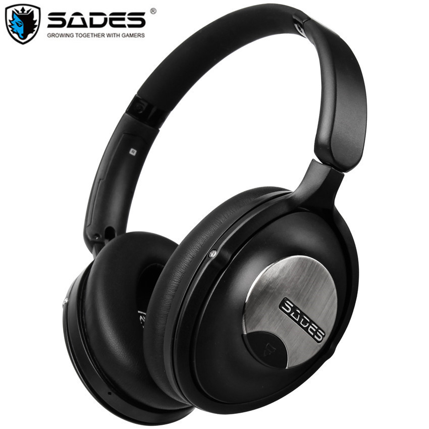 sades d803 active noise cancelling bluetooth headphone handsfree foldable wireless hifi headset. Black Bedroom Furniture Sets. Home Design Ideas