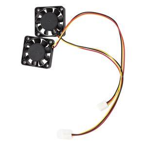 Image 2 - 2 Pcs 3ขา40มม.พัดลมระบายความร้อนคอมพิวเตอร์DC 12Vสีดำ