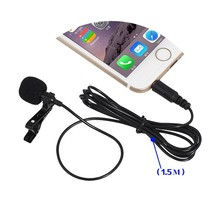 3.5mm Jack Microphone for Computer Mobile Phone Lavalier Tie Clip-on Lapel Mikrofon Microfono Mic For Speaking Lectures 1.5m