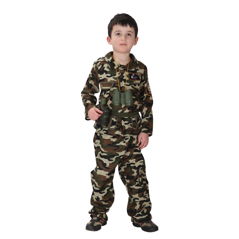 Free shipping 2016 Hot Sell Kids Military Camouflage Clothing Special Forces Costume image