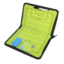 Zipper Magnetic Soccer Board Football Tactical Board Soccer Coach Tactic Football Training Coaching Clipboard Magnetic Eraser soccer coaching board strategy tactics clipboard football game match training plan accessories