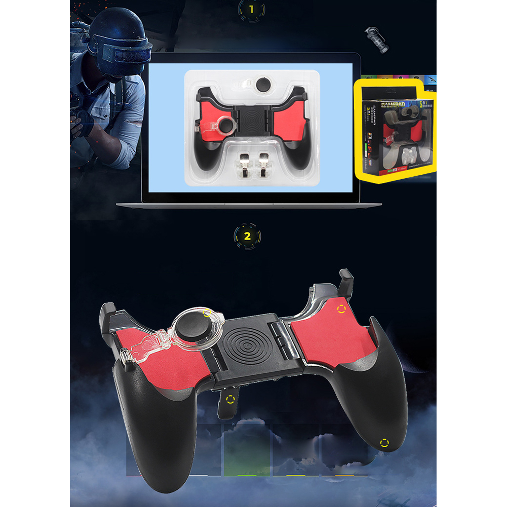 5 In 1 Mobile Phone For PUBG Portable Gamepad Fire Button Game Controller Foldable Joystick For Android Handle Ergonomic