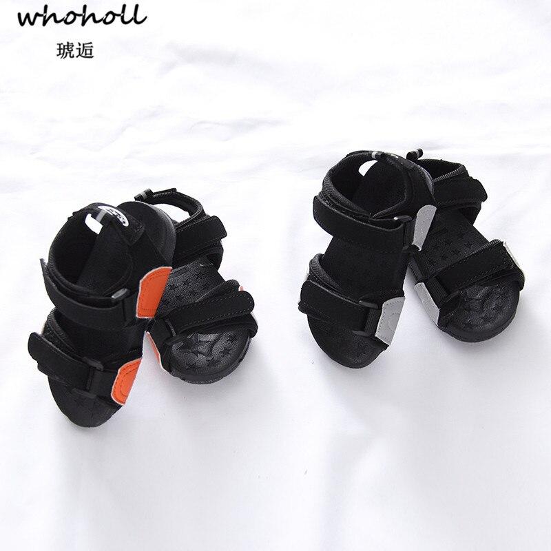 WHOHOLL Baby Toddlers First Walkers Summer Summer Shoes Baby Boys Soft Leather First Walkers Babs Boys Summer Prewalker Beach