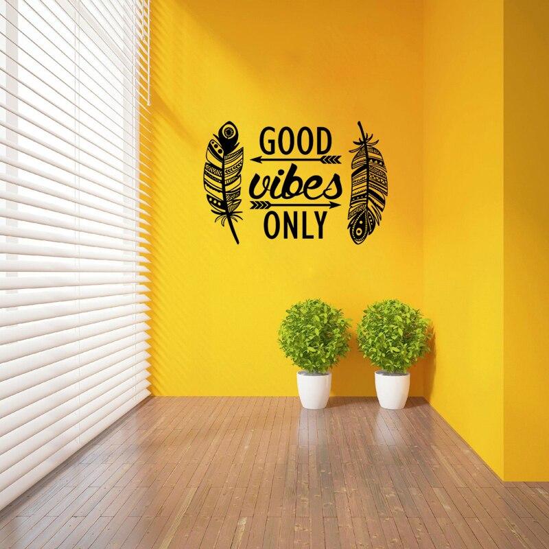 Boho Style Good Vibes Wall Sticker 3