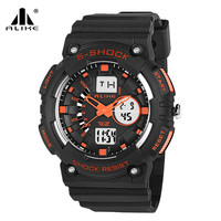 S SHOCK 2016 New Luxury Brand Men Military Sports Waterproof Watch LED Quartz Wristwatches Rubber Strap
