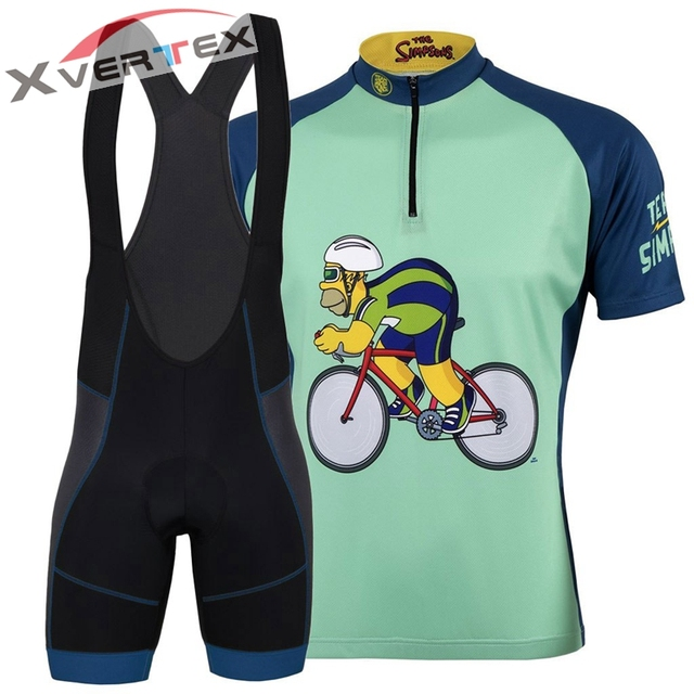 THE SIMPSONS TEAM CYCLING JERSEY MEN Half Zip Cycle Champ Homer 2018 summer  Breathable short sleeve cycle JERSEY MTB bike wear d1d989893
