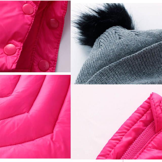 8eccefc58 Online Shop Newborn girl winter coat hooded Rompers solid children ...