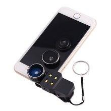 4in1 Комплект LED Заполняющий Свет Вспышки с Широкий Угол Макро Объектив Рыбий Глаз Мобильный телефон Линзы Для iphone 4 4s 5 5s 5c SE 6 6 s 7 плюс