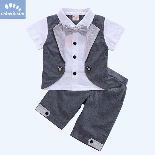 3191ff7c1 Aliexpress.com   Buy Baby Boys Clothes sets 2018 Summer Short ...