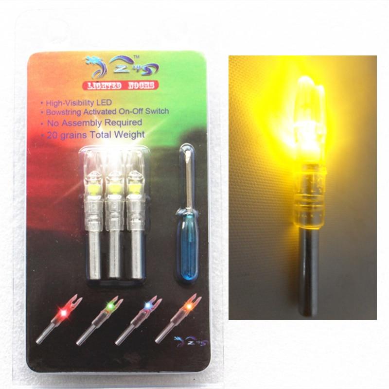 3pcs אוטומטי מנורה נוק מתחם קשת LED חץ Nock - ציד