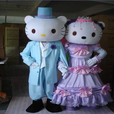 Hello Kitty Mascot Costume Adult Fancy Dress Party Clothing Adult Mascot Halloween Costume