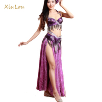 2016 New High Quality Belly Dance Costume 4piecesset Bollywood Dance Costumes Oriental Dance Costumes