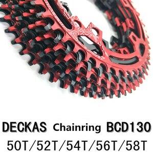 Image 5 - DECKAS مستديرة 130BCD 50 T/52 T/54 T/56 T/58 T الدراجات سلسلة الدراجة دراجة سلسلة دراجة كرانكبيت لوحة BCD 130 مللي متر الأسنان لوحة شحن مجاني