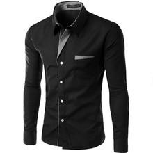 Горячая Распродажа, новая модная мужская рубашка Camisa Masculina с длинным рукавом, мужская приталенная дизайнерская официальная Повседневная брендовая мужская рубашка, размер M-4XL