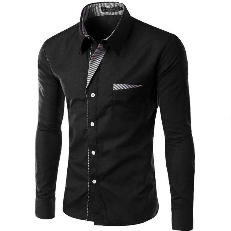 Heißer Verkauf Neue Mode Camisa Masculina Langarm-shirt Männer Slim fit Design Formale Casual Marke Männliche Kleid Hemd Größe m-4XL