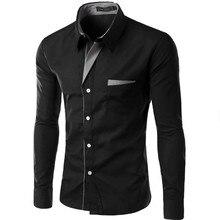 Hot Sale New Fashion Camisa Masculina Long Sleeve Shirt Men