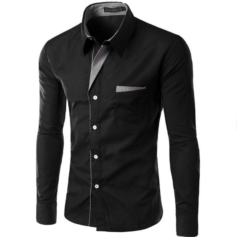 Hot Venda Nova Moda Camisa Masculina Camisa de Manga Longa Homens Marca de Design Slim fit Casuais Formais Masculino Vestido Camisa Tamanho m-4XL